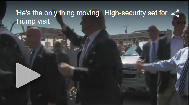 WKNB FirstNews:  'He's the Only Thing Moving:' High-Security Set for Trump Visit